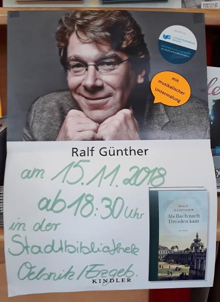 Buchhandlung WORTSCHATZ Lesung von Ralf Günther